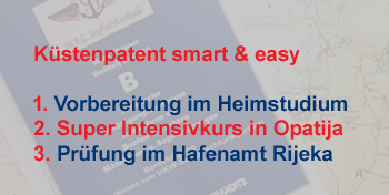 Küstenpatent an 1 Wochenende - smart & easy - All inklusive Pakete